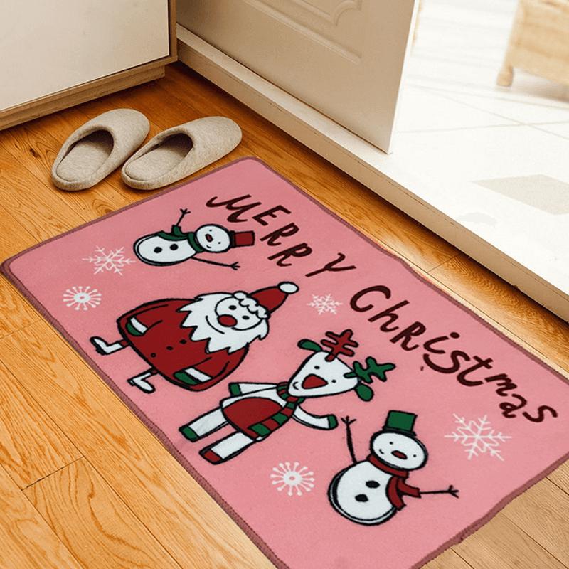 новогодний коврик красный