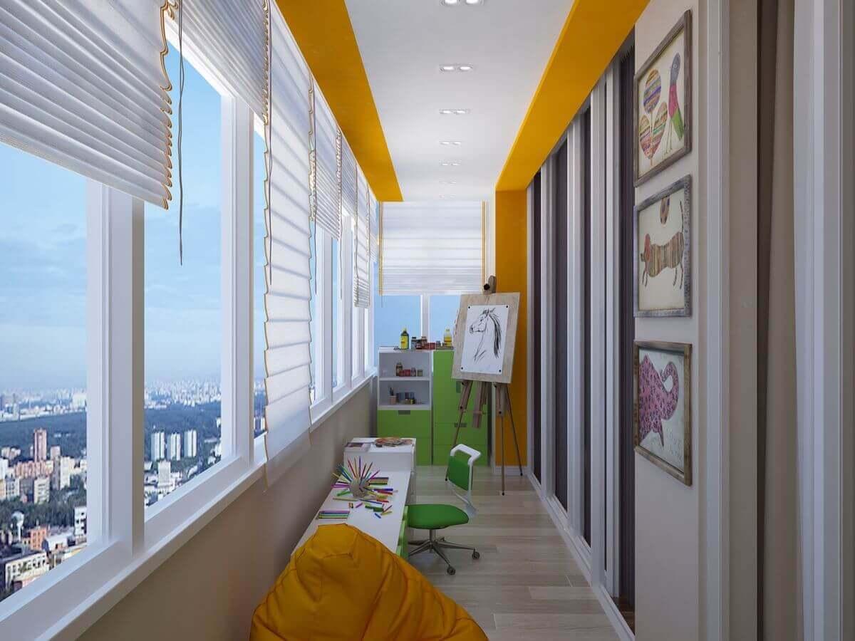 комната для детей на балконе фото
