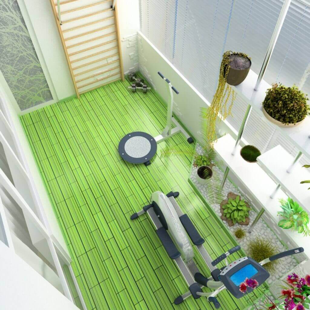 тренажерный зал на балконе