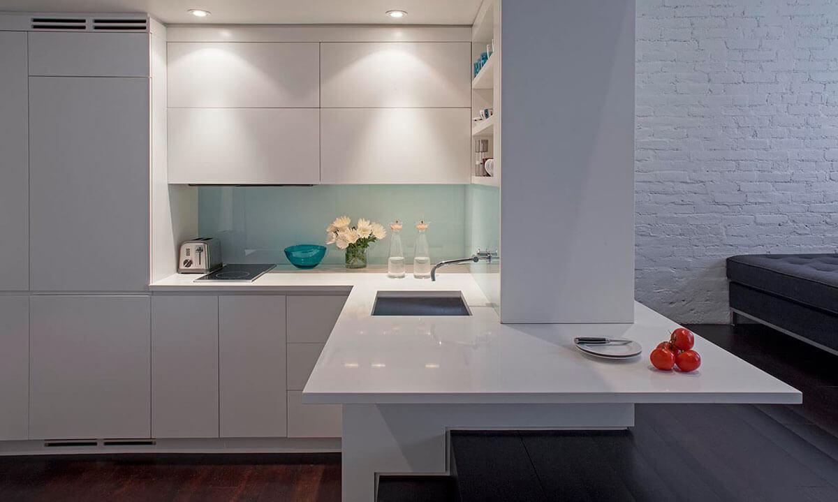 кухонные шкафы в стиле минимализм