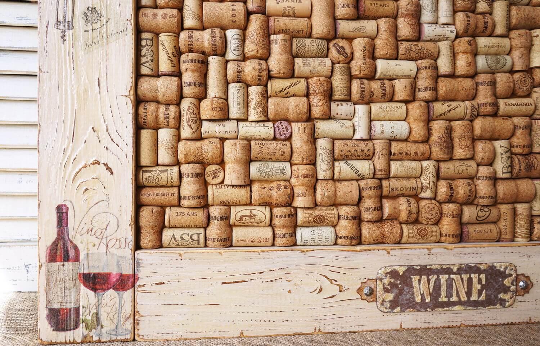 пано на стену из винных пробок