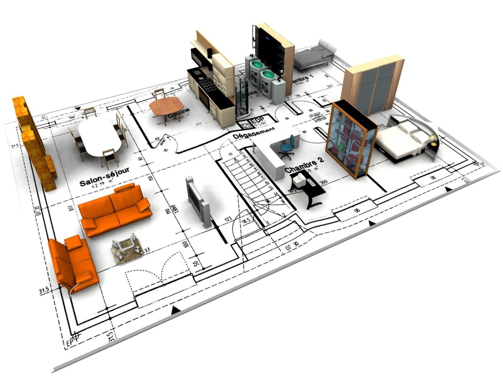 проект квартиры 2d