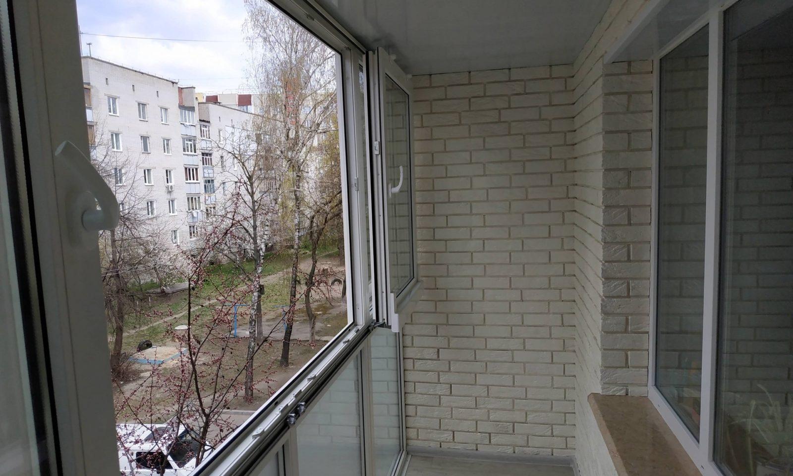 отделка балкона без утепления